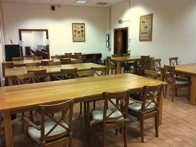 Sala lettura della Biblioteca del Dipartimento di Biologia e Biotecnologie Sapienza - Edificio Antropologia