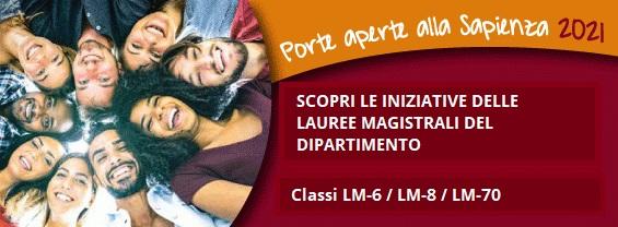 PORTE APERTE 2021 - SCOPRI LE ATTIVITÀ DELLE LAUREE MAGISTRALI DEL DIPARTIMENTO